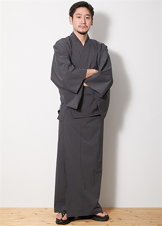 DWR Light Weight OUTDOOR KIMONO Charcoal