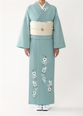 Tsukesage Homongi (ceremonial kimono/synthetic/with tailoring)