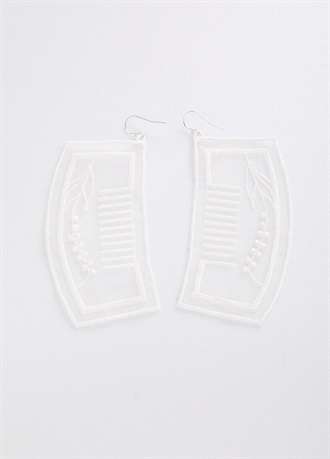 BANSAN clip-on earrings/earrings White