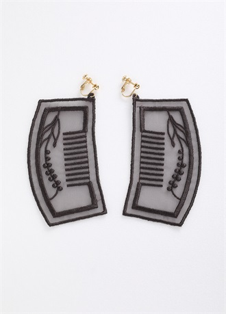 BANSAN clip-on earrings/earrings Charcoal