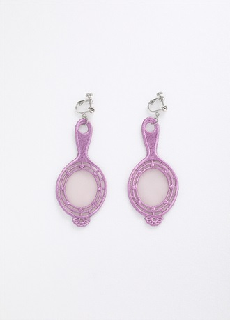 BANSAN clip-on earrings/earrings Lavender